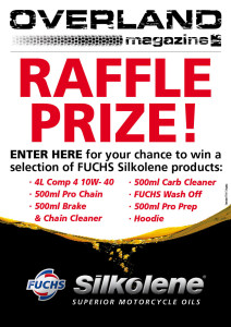 overland raffle Prize