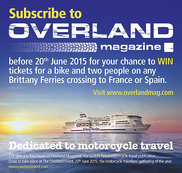 Overland Magazine Subscription Brittany Ferries offer